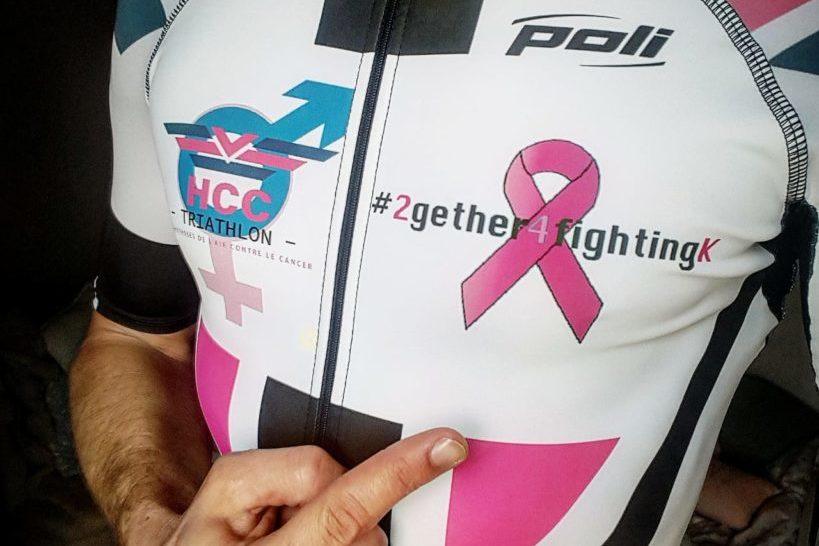 El reto definitivo: Ironman 70.3 Mallorca, Geoffroy G, acabado bajo los colores de la asociación.