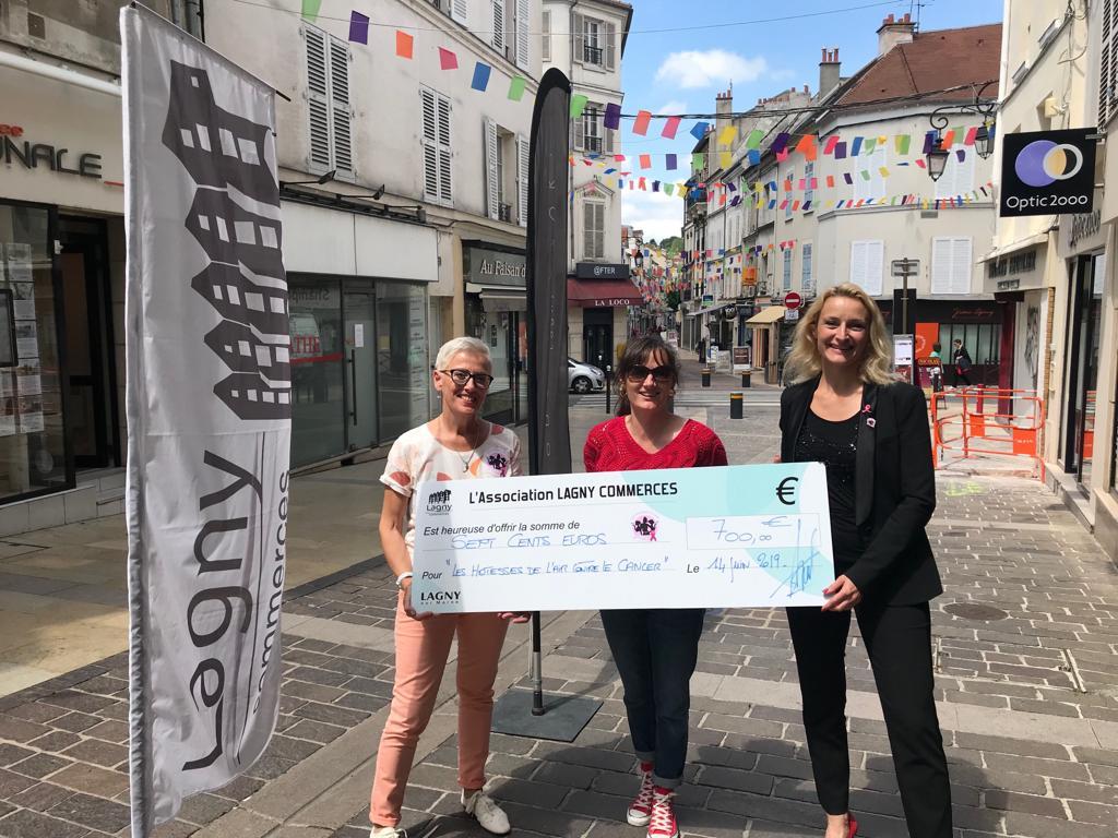 La ville et les commerçants de Lagny-sur-Marne nous soutiennent pour octobre rose